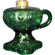 Finger footed green Bullseye oil lamp