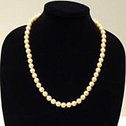 Matinee Faux Pearl Necklace with Beautiful 10mm Beads