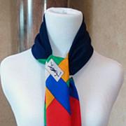 Vintage Yves St. Laurent Block Color Silk Scarf