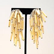 Exquisite Vintage Chandelier Earrings in Pastel