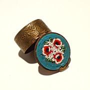 SOLD Intricate Vintage Mosaic Italian Pillbox