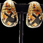 Vintage Runway Goddess Earrings