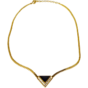 Christian Dior Geometric Necklace