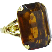 Topaz Glass Cocktail Ring - AVON Collectible