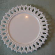 SOLD Kemple Sheaf of Wheat Milk Glass Plate.