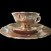Sensational Silver Filigree Teacup/Cake Plate