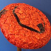 SALE Red Hat by Mr. John Sophisticates New York Paris