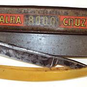 SALE Art Deco Razor German Gunter's & Luckhaus Navalha Cruz 8000