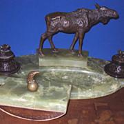 SALE Bronze Desk Set made in Austria  (1885 - 1951)