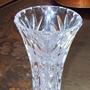 Hand Cut Lead Crystal Vase German Imperlux