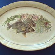 SALE Antique Sevres Fish Platter