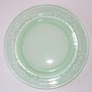 SALE Green Depression Glass Plate
