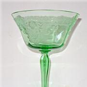 Green Depression Glass Goblet or Tall Sherbet