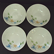 SALE Four Iroquois China Sleepy Hollow Pattern Bowls