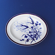 SALE Platter Cobalt Blue by George Jones and Sons c. 1890 Stoke England
