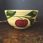 SALE Watt Pottery Apple w/ three leaves #6 Bowl