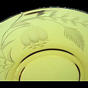 8 Cut Glass Amber Dessert Plates