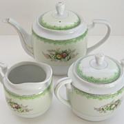 Delightful Occupied Japan Porcelain Tea Set with Florals