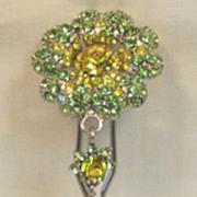 Large Sparkling Vintage Rhinestone Hair Ornament