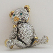 Darling Vintage Full Movement Teddy Bear Pin