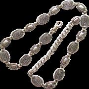Vintage Silver Tone Southwestern Style Linked Belt