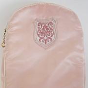 Darling Vintage Pink Satin Baby Bottle Bag