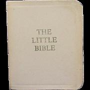 "Vintage Miniature Book ""The Little Bible"""