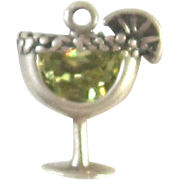 REDUCED Sterling Silver Margarita Cocktail Charm