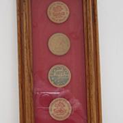 SALE Framed Vintage Sambo's Wooden Tokens