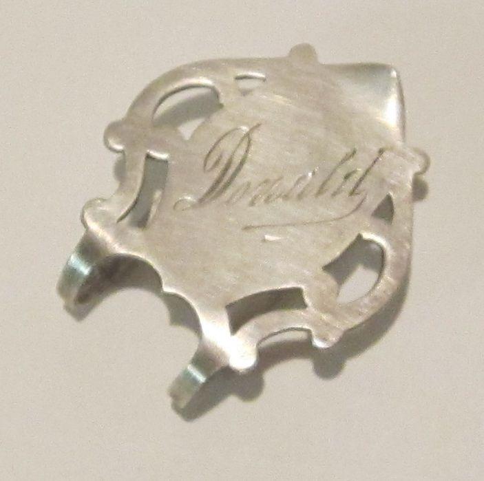 Handsome Antique Sterling Silver Napkin Holder