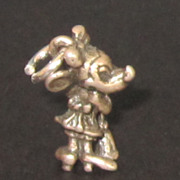 Vintage Sterling Silver Minnie Mouse Charm