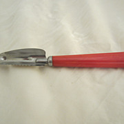 Red Bakelite Garnish Tool Vintage Kitchen Utensil