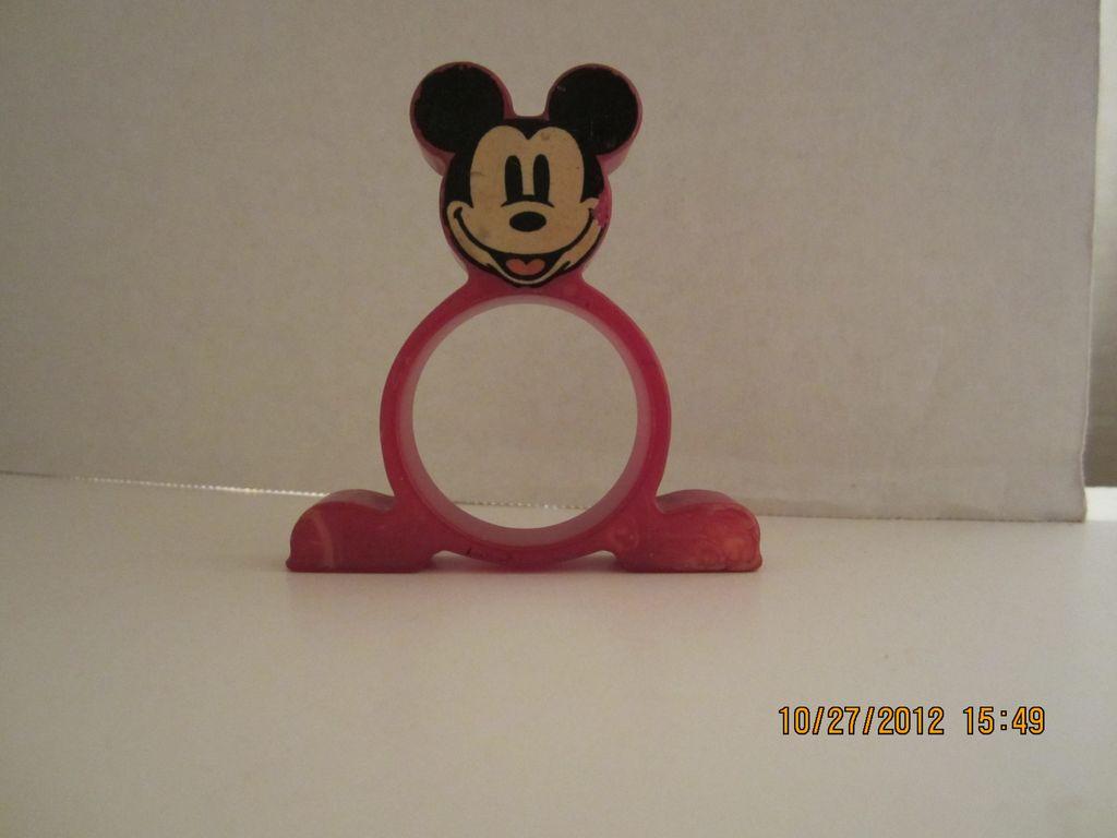 Red Bakelite Mickey Mouse Napkin RIng
