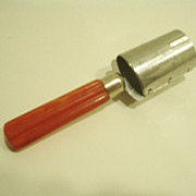 Red Bakelite Corer Vintage Kitchen Utensil