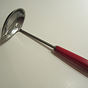 SALE Red Bakelite Pouring Ladle - Vintage Kitchen Utensil