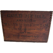SALE PENDING Walter Baker & Co Dorchester MA Chocolate Box