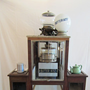 1920's Popcorn Machine with Butterkist Globe