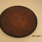 SALE Roycroft Round Hammered Copper Ashtray