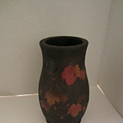 Tree Bark Cloisonne Vase with Leaves