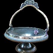 Antique 1800s Quadruple WM Rogers Silverplate Bridal Basket