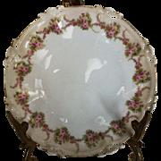 M&Z Austria Floral Desert Plates set of 2 c1900