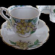 Royal Albert Hawthorne Tea set Flower of the Month c 1950s