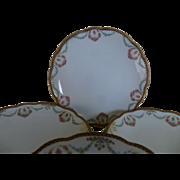 MZ Austrian hand painted set of 6 desert plates c 1900