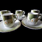 Royal Munich Demitasse Cup & Saucers set of 5