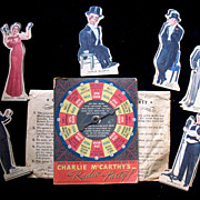 REDUCED Vintage 1938 Charlie McCarthy Radio Party Game W Original Envelope Complete