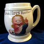 Antique Vintage Hires Root Beer Baby Boy  Mug Mettlach Villeroy & Boch Germany