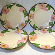 REDUCED 4 Franciscan Desert Rose Salad Plates 7 7/8""