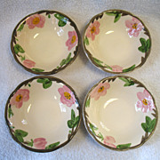 "REDUCED 4 Franciscan Desert Rose Coupe Cereal Bowls 5 7/8""  England"