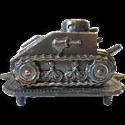 SALE Vintage WW1 WWI US Army Tank Corps Ash Tray w Renault Tank