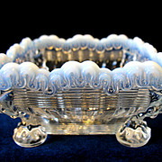 EAPG Antique Northwood Glass Alaska Opalescent Small Footed Bowl